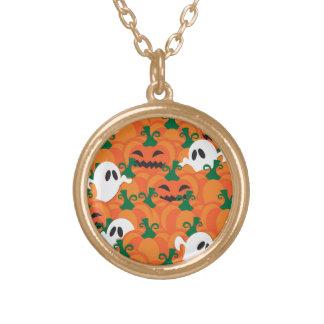 Halloween-Geist-Spuk Kürbis-Flecken Vergoldete Kette