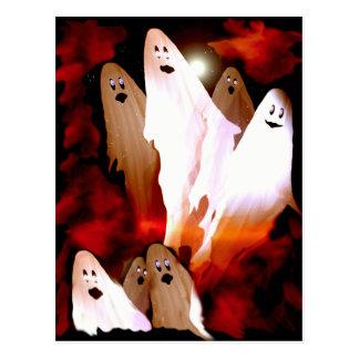 Halloween-Geister Postkarte