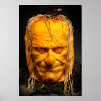 Halloween gemeißelter Jack-O' - Laterne Poster