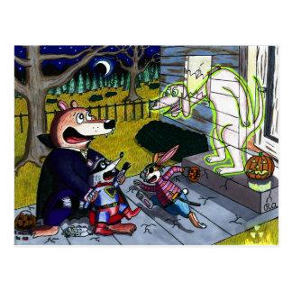 Halloween-Gespenst Postkarte