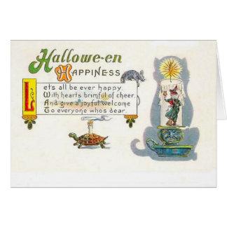 Halloween-Glück-Gruß-Karte Karte