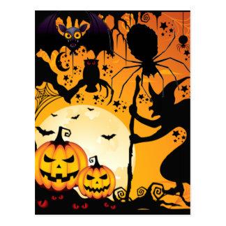 Halloween greetings_ postkarte