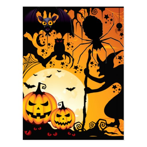 Halloween greetings_ postkarten