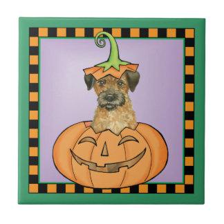Halloween-Grenze Terrier Keramikfliese