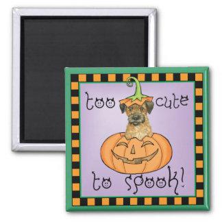 Halloween-Grenze Terrier Quadratischer Magnet