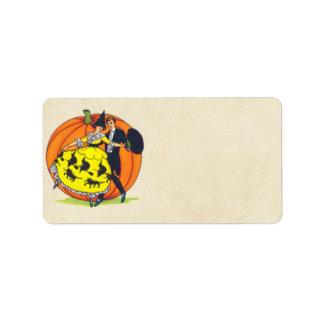 Hallowe'en Grüße Adressetikett