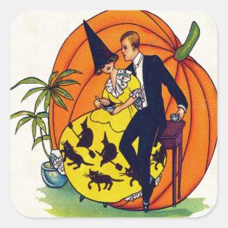 Hallowe'en Grüße Quadratischer Aufkleber