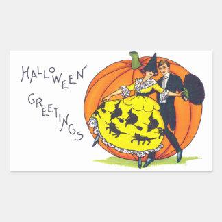 Hallowe'en Grüße Rechteckiger Aufkleber