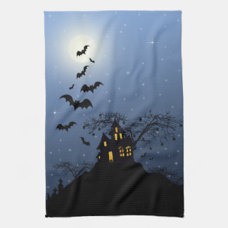 Halloween-Haus-Geschirrtuch Geschirrtuch