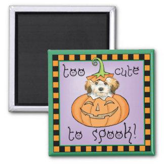 Halloween Havanese Quadratischer Magnet