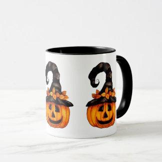 Halloween-/Herbst-Kürbislaterne-Tasse Tasse