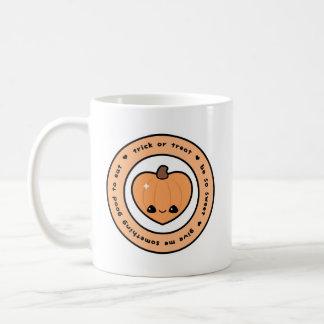 Halloween-Herz-geformter Kürbis Kaffeetasse