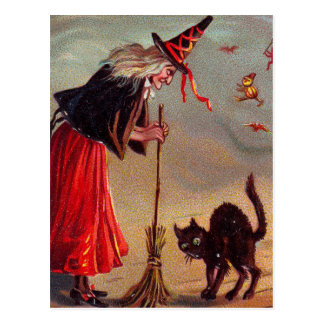 Halloween-Hexe Postkarte