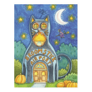 Halloween-Hexe-Postkarte Postkarte