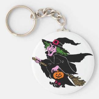 Halloween-Hexe Schlüsselanhänger