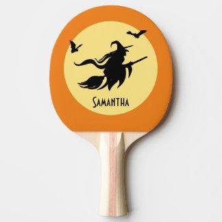 Halloween-Hexe Tischtennis Schläger
