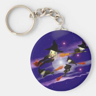 Halloween-Hexe-Verkehr Schlüsselanhänger