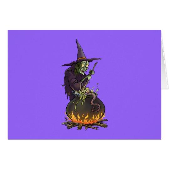Halloween Hexe witch Karte