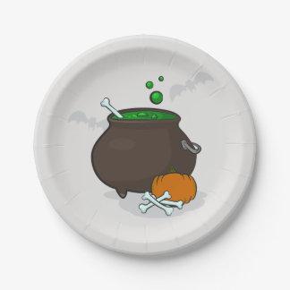 Halloween-Hexeschüssel Pappteller