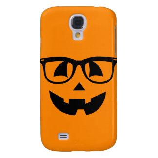 Halloween-Hipster-Kürbis-Muster Galaxy S4 Hülle