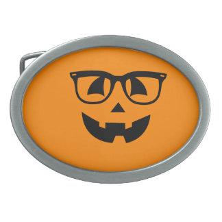Halloween-Hipster-Kürbis-Muster Ovale Gürtelschnallen