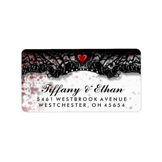 Halloween-Hochzeits-Blut-Spritzer-Adressen-Etikett Adress Aufkleber