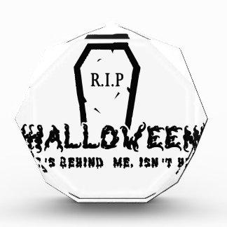 Halloween ist er hinten acryl auszeichnung