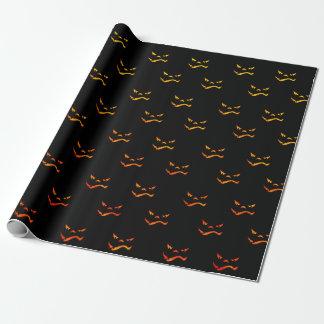 Halloween-Jack O'Lantern Grimassen-Muster Geschenkpapier