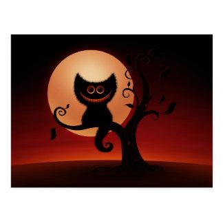 Halloween-Kätzchen Postkarte