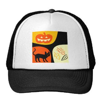 Halloween-Katze Trucker Mütze