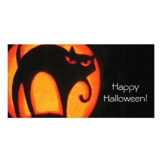 Halloween-Katze Karte