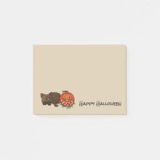 Halloween-Katze Post-it Klebezettel
