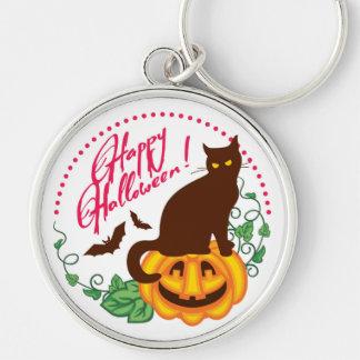 Halloween-Katze Schlüsselanhänger