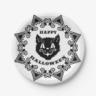 Halloween-Katzen-Teller Pappteller
