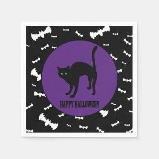 Halloween - Kind - Familie - schwarze Katze Papierserviette