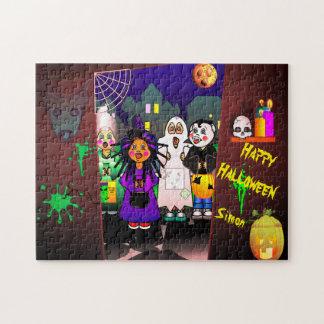 Halloween-Kinderticken oder -behandlung Puzzle