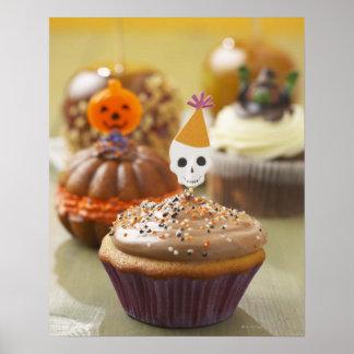 Halloween-kleiner Kuchen Poster