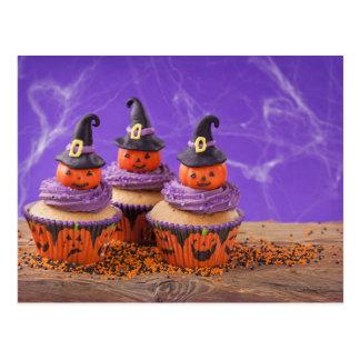Halloween-kleiner Kuchen Postkarte