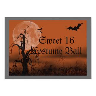 Halloween-Kostüm-Ball-16. Geburtstag-Einladung Karte