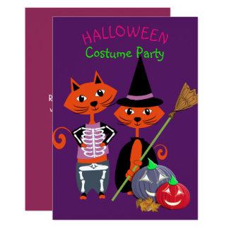 Halloween-Kostüm-Party-Editable niedlicher Spaß Karte