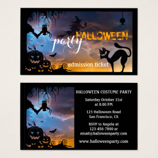 Halloween Business Cards