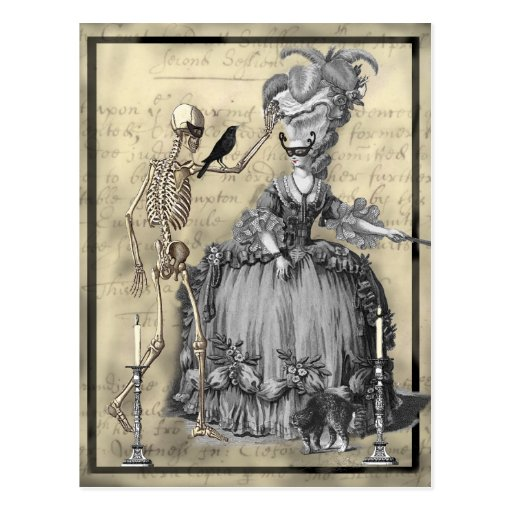 Halloween-Kostümball Postkarte