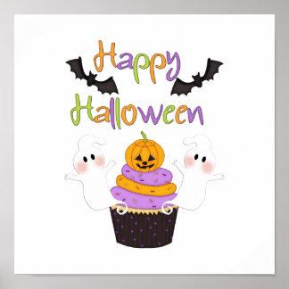 Halloween-Kuchen-Zeichen Poster