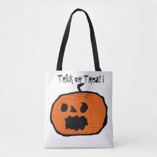 Halloween-Kürbis-Felsen-Tasche Tasche