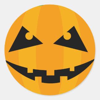 Halloween-Kürbis-Geschenk-Umbau Runder Aufkleber