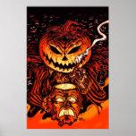 Halloween-Kürbis-König Poster