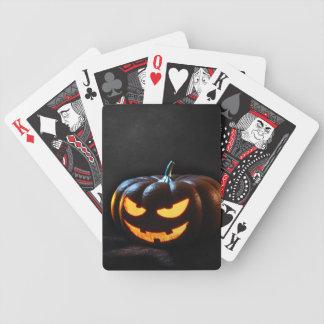 Halloween-Kürbis-Kürbislaterne gespenstisch Bicycle Spielkarten