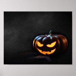 Halloween-Kürbis-Kürbislaterne gespenstisch Poster