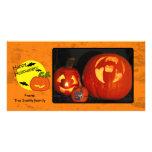 Halloween-Kürbis mit beunruhigtem Hintergrund Individuelle Foto Karten