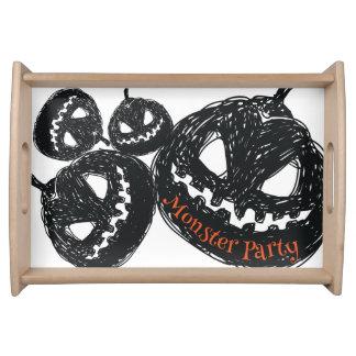 Halloween-Kürbis-Monster-Party Tablett